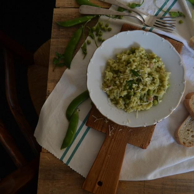 risotto de guisantes 15