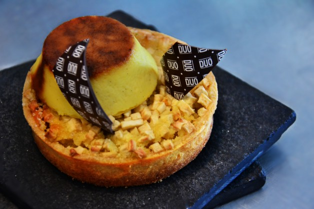 Tarta de manzana y crème brulée
