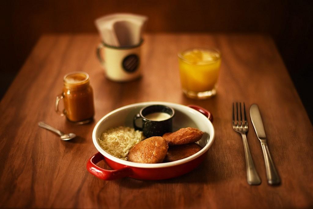 Desayuno arepa dulce