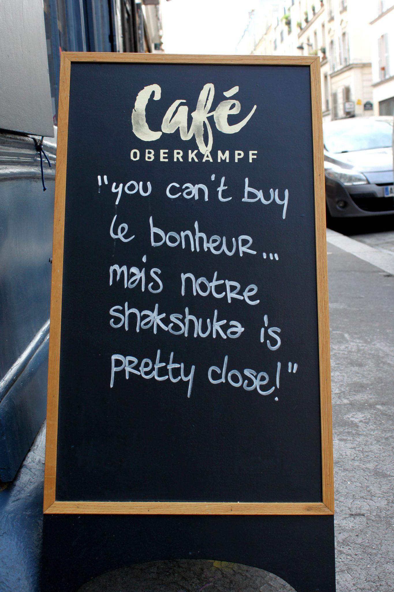 Café Oberkampf -cartel