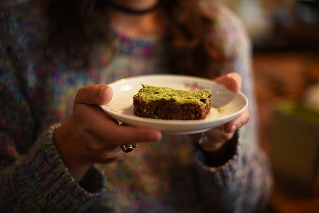 Brownie con matcha